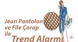 Jean Pantolon ve File Çorap ile Trend Alarmı